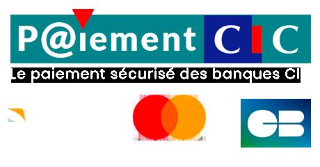 Paiement sécurisé sur le site Zen Hammam avec CIC et les cartes bleues Visa et Mastercard